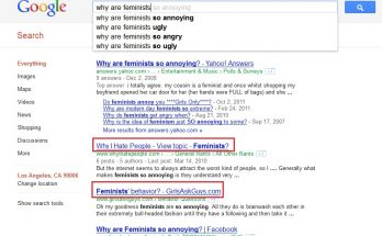 Why are feminists (google version)